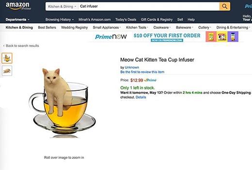Đồ pha trà lấy cảm hứng từ mèo. (Ảnh: Internet)
