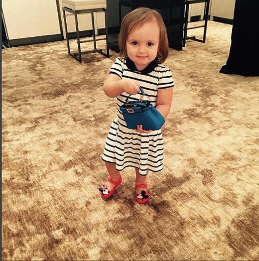 Chú ngựa nhỏ và túi xách hàng hiệu được dành cho lần sinh nhật thứ 2 của cô bé.