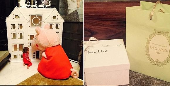 Món quà Dior giá 100 bảng Anh (hơn 3 triệu đồng) dành cho cô bé.