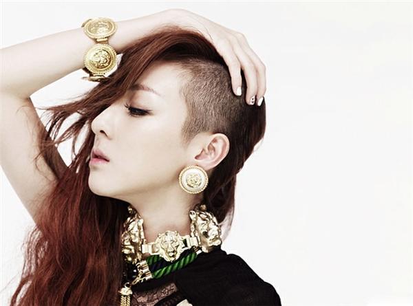 Dara (2ne1) cũng từng khiến giới trẻ mê mệt với kiểu tóc Undercut.