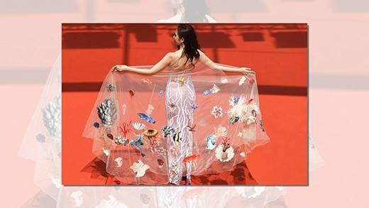 Choáng ngợp với chiếc váy đại dương của Angela Phương Trinh tại Cannes