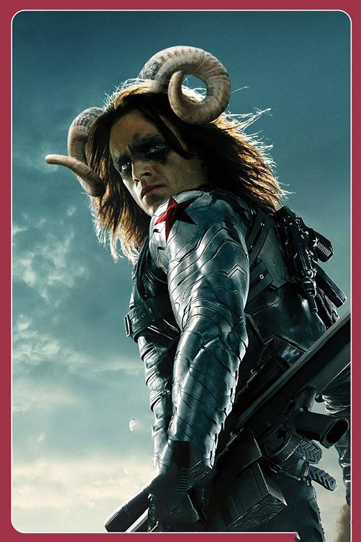 """Còn """"Đông đại ca"""" Winter Soldier từ bỏ """"tình yêu"""" Captain America để xuống...địa ngục làm Ngưu ma vương. Chắc hẳn con đường phía trước của anhsẽ lắm chông gai khi không còn người thương bên cạnh. (Ảnh: Internet)"""