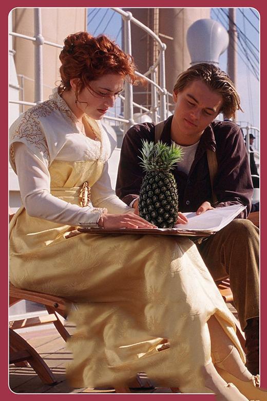 """Quả dứa thơm ngon trở thành """"chất xúc tác"""" cho chuyện tình lãng mạn giữa Jack và Rose trong Titanic. (Ảnh: Internet)"""