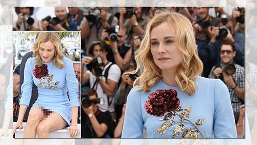 """Những pha lộ hàng """"để đời"""" trên thảm đỏ Cannes"""