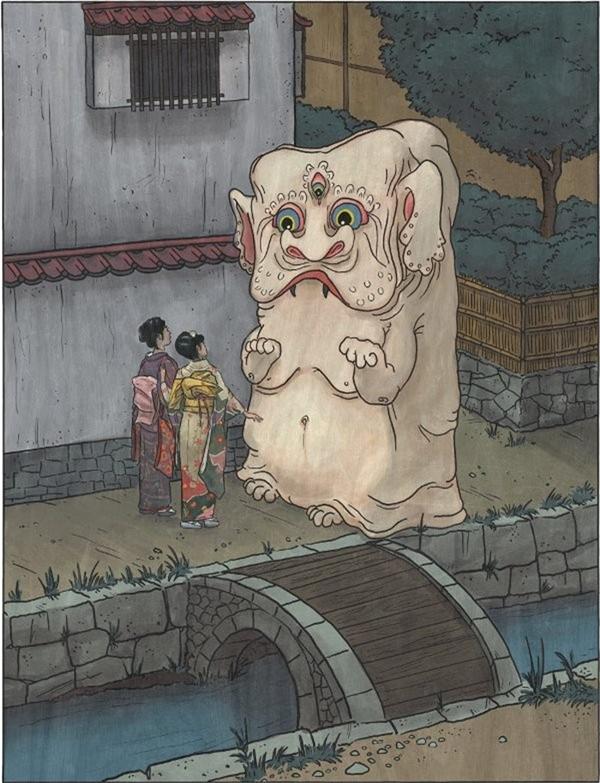 Nurikabe là con ma lạc đường theo truyền thuyết Nhật.(Ảnh: Internet)
