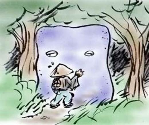 Những rắc rối bóng đêm người Nhật cho rằngđều bắt nguồn từ Nurikabe - con ma lạc đường.(Ảnh: Internet)