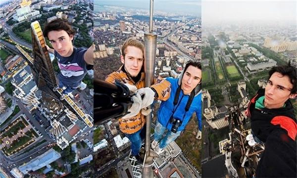 Một thanh niên chia sẻ những bức ảnh trong mỗi lần chinh phục các cột tháp.