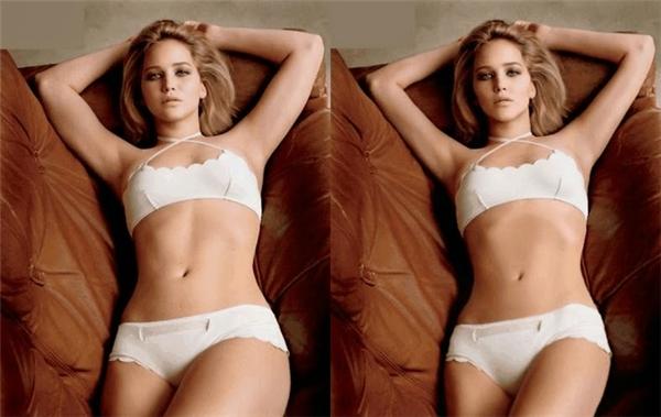 """Jennifer Lawrence được """"là phẳng"""" bụng và """"gọt"""" bắt tay, bắp đùi."""