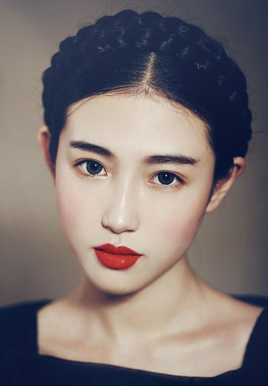 """""""Nữ thần thoát tục'"""" Trương Tân Uyển trên mạng xã hội."""