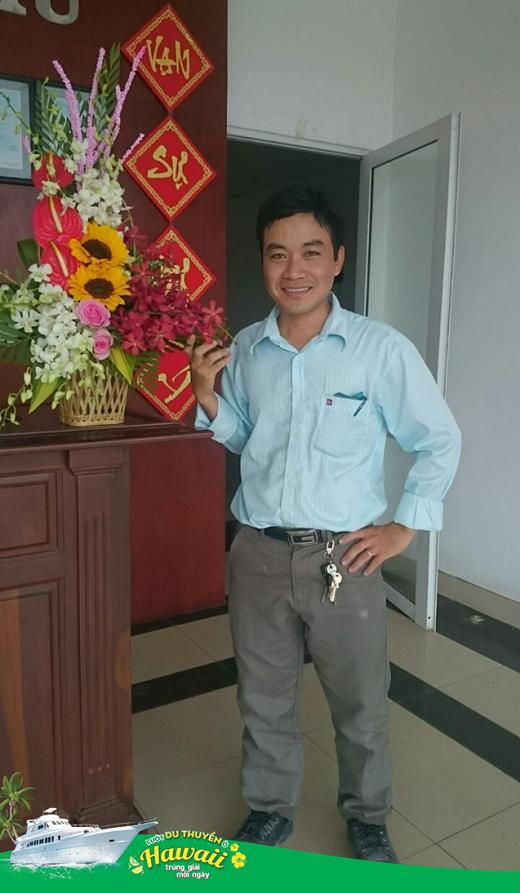 Anh Phan Thanh Sang (Long An) – một chủ nhân khác của tấm vé vi vu du thuyền đến Hawaii.