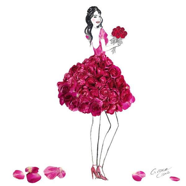 Hoa hồng - nguồn cảm hứng sáng tạo bất tận cho nghệ thuật. Những bông hoa được đặt kề nhau tạo nên hiệu ứng thị giác bắt mắt.