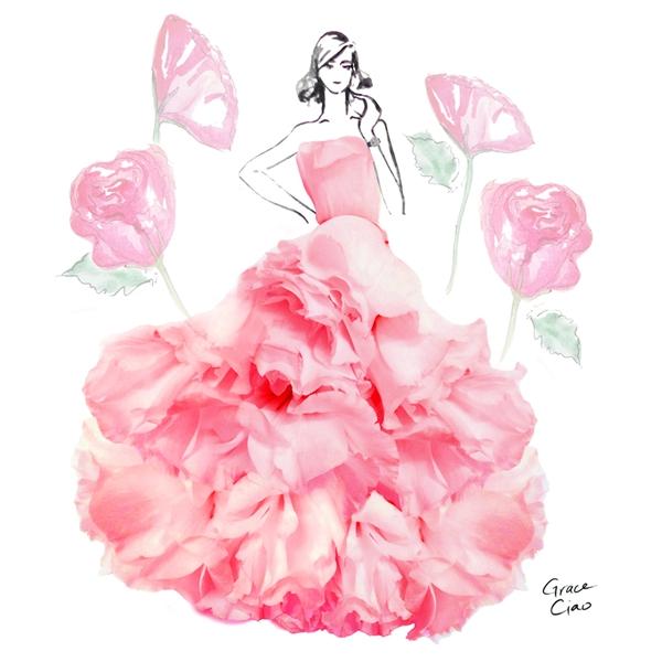 Những dáng váy bồng xòe lần lượt được tạo nên từ hoa lan, cẩm chướng, hoa hồng, hoa cúc. Tông màu ngọt ngào, nhẹ nhàng mang lại vẻ ngoài thanh lịch cho các cô gái nếu được thực hiện thành mẫu thật.