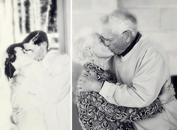 Cặp vợ chồng này vẫn luôn tình cảm như thế dù họ đã sống bên nhau suốt 60 năm.