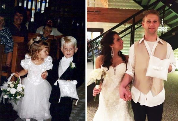 Vào năm 1995, cặp đôi ngẫu nhiên trở thành phù dâu phù rể trong đám cưới và 20 năm sau họ kết hôn, sánh bước bên nhau.
