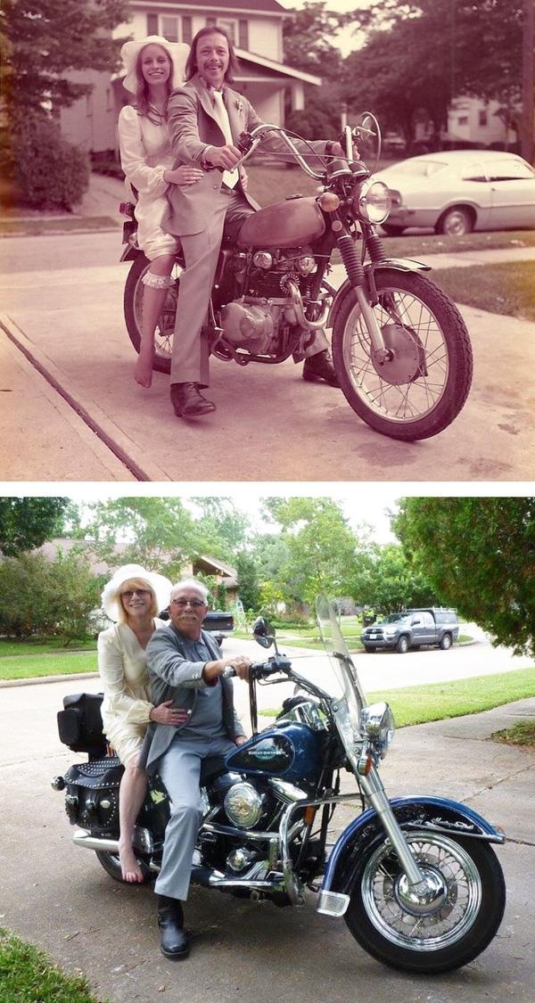 Họ đã bên nhau suốt 40 năm, sở thích vẫn không hề thay đổi.
