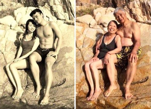 Có lẽ chẳng cần phải nói quá nhiều, 2 bức ảnh đủ nói lên tình yêu của họ…