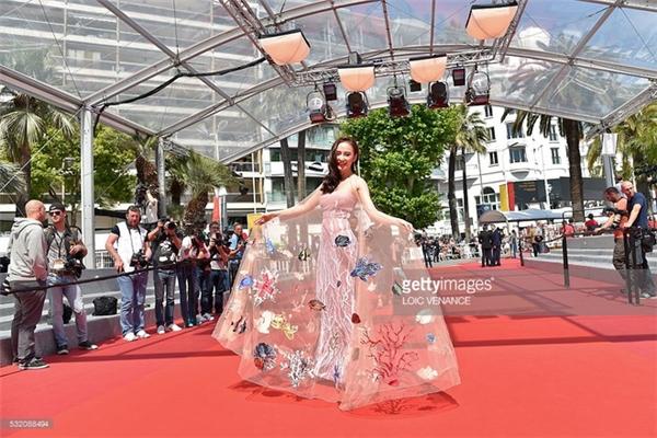 Nữ diễn viên trên thảm đỏ Cannes 2016 vào hôm qua.