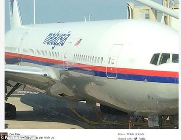 Hình ảnh chiếc máy bay mang số hiệu MH17 được đăng tải trên MXHcủa Cor Pan.