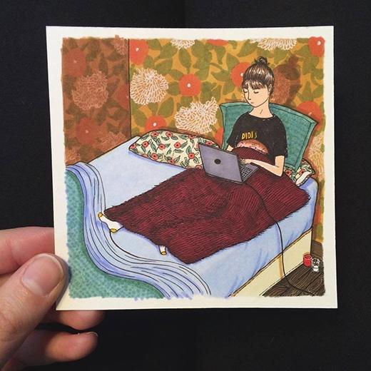 """Còn giường ngủ thì có thể được... """"cách tân"""" thành nơi làm việc. (Ảnh:Sally Nixon)"""