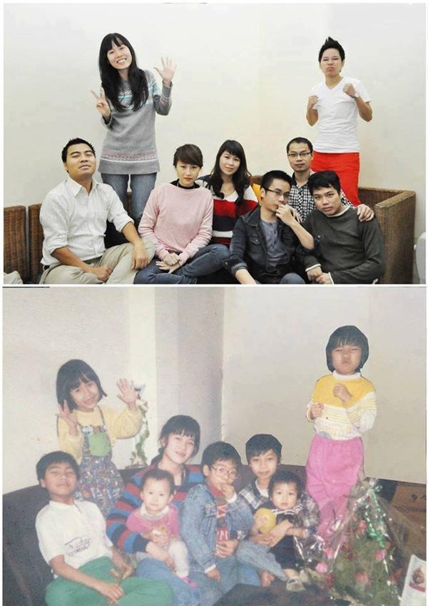 Gia đình bạn có muốn thử chụp một bức ảnh giống thế này không? Sau bao nhiêu năm nhìn lại là cả một sự thay đổi đáng kinh ngạc. (Ảnh: Internet)
