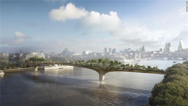 Cầu Garden bắc qua sông Thames ở London, Anh, do kiến trúc sư Thomas Heatherwick thiết kế chuẩn bị khởi công trong năm nay và dự kiến hoàn thành vào cuối năm 2018. Sau khi hoàn thiện, Garden được dự đoán sẽ là một trong nhữngcây cầu ngoạn mụcnhất thế giới.