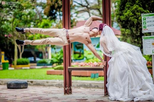 Bộ ảnh cưới mang đậm chất thể thao đang gây bão mạng.