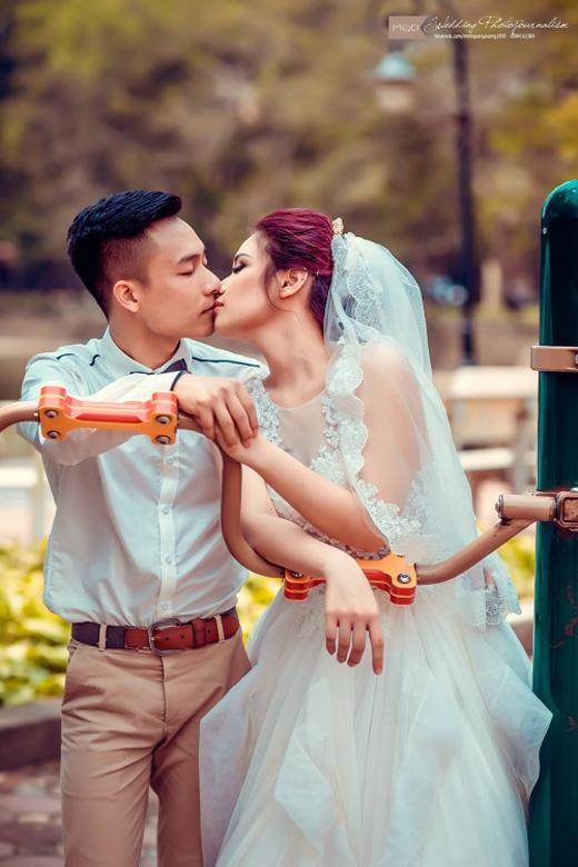 Kinh ngạc với ảnh cưới thể dục đường phố của cặp đôi Hà thành