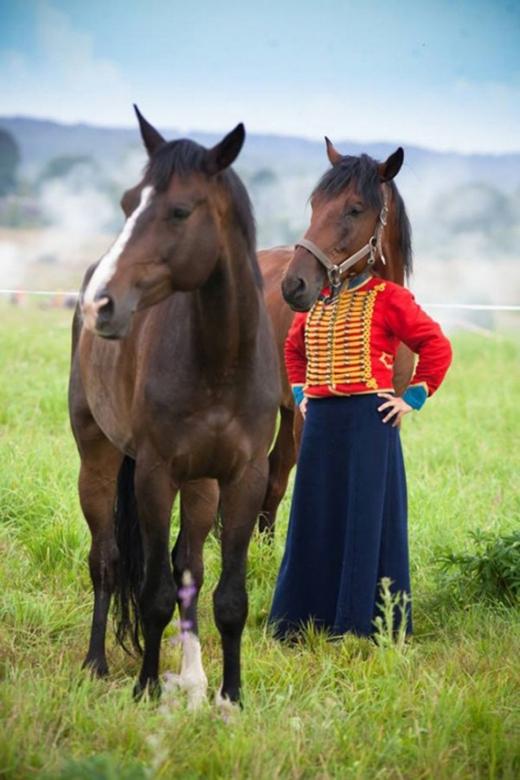 Đầu ngựa, mình người. (Ảnh: Internet)