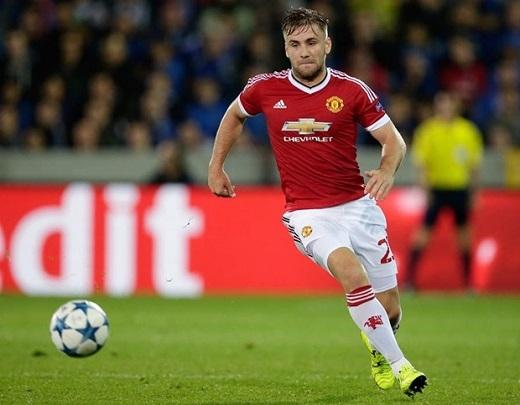 Hậu vệ: Luke Shaw. Cầu thủ Anh đã nghỉ thi đấu phần lớn thời gian trong mùa giải do chấn thương. Nhưng điều đó không làm thay đổi được sự thật Mourinho là một NHM của anh. Ảnh: Internet.