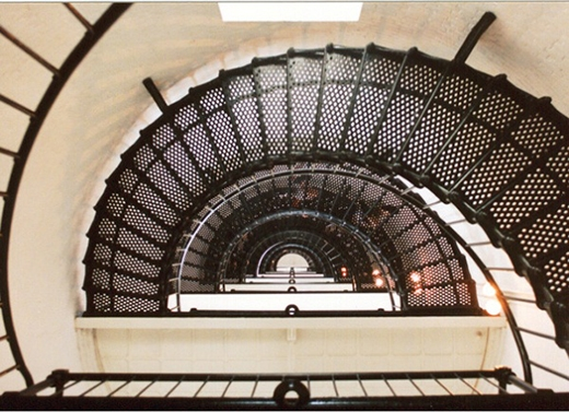 Khách thăm quan đã báo cáo làbị đẩy khi đi xuống cầu thang.(Ảnh: Internet)