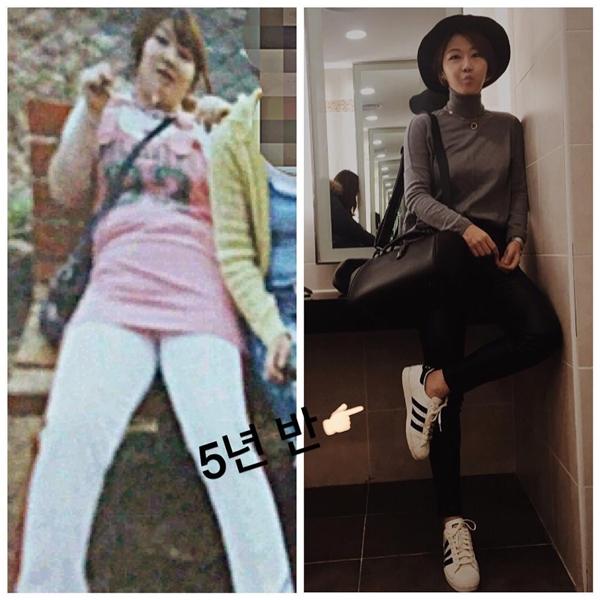 Kim Joo Won từng là một cô nàng béo ú nặng 104kg.