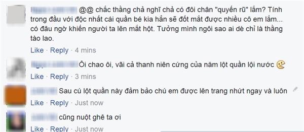 Nhức mắt với hình ảnh lột quần lội nước của người đàn ông ở Hà Nội