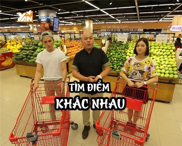 Will và Suni Hạ Linh đối đầu trong trò chơi đi siêu thị.