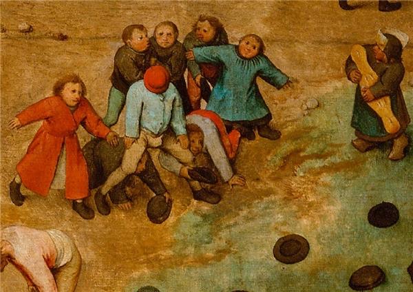 Một bức tranh hơn 400 năm lại khái quát đủ trò chơi tuổi thơ bây giờ