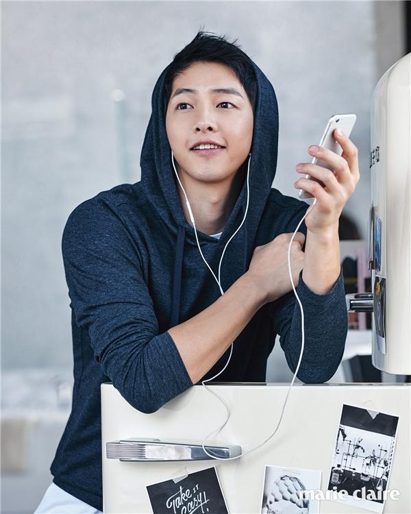 Làn da láng mịn là một trong những niềm tự hào của Song Joong Ki