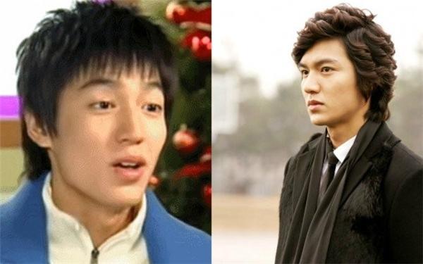 Lee Min Ho: Năm 2003, Lee Min Ho từng xuất hiện với hình ảnh nghịch ngợm trong Sharp. Phải đến 6 năm sau, anh mới được biết tới qua Vườn sao băng.