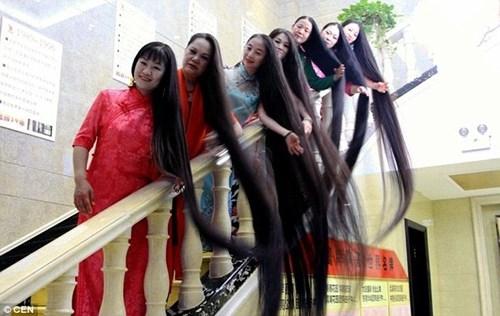 """Nhóm 8 phụ nữ đến từ các tỉnh khác nhau của Trung Quốc, đã nuôi tóc suốt 20 năm và tóc của một số người đạt độ dài tới 3,5m. Ngoại hình đặc biệt đã khiến họ được dân mạng Trung Quốc mệnh danh là """"ma nữ tóc dài""""."""