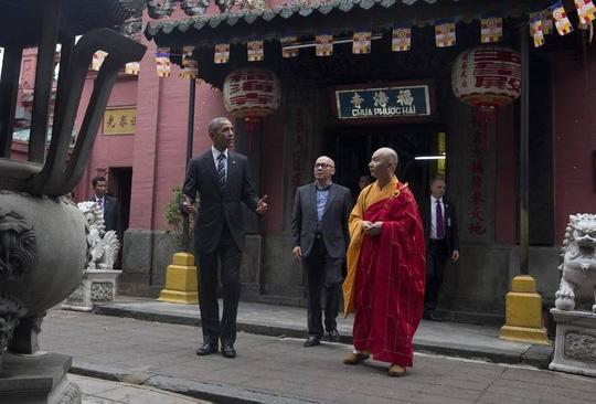 Chùa Ngọc Hoàng là điểm đến đầu tiên của nhà lãnh đạo Mỹ khi tới thăm Tp. Hồ Chí Minh. (Ảnh: Internet)
