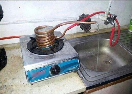 Thế là đã có nước nóng xài thoải mái nhé.