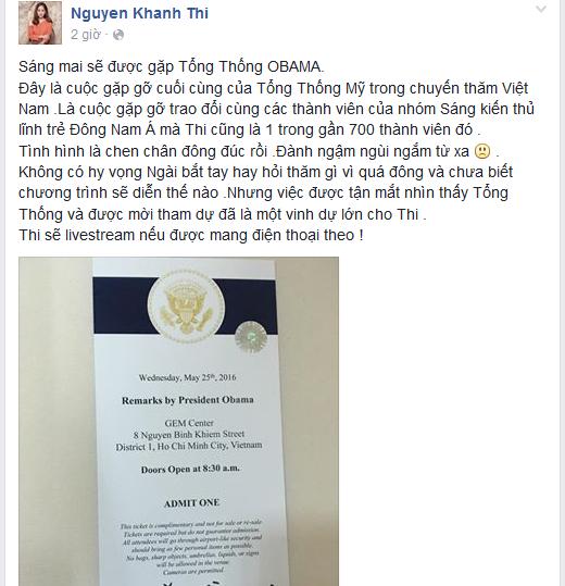 Nữ kiện tướng dance sport cho biết được gặp và bắt tay ông Obama là niềm vinh hạnh rất lớn với cô. - Tin sao Viet - Tin tuc sao Viet - Scandal sao Viet - Tin tuc cua Sao - Tin cua Sao