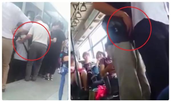 Nạn móc túi diễn ra rất thường xuyên trên các tuyến xe buýt... Ảnh: Internet