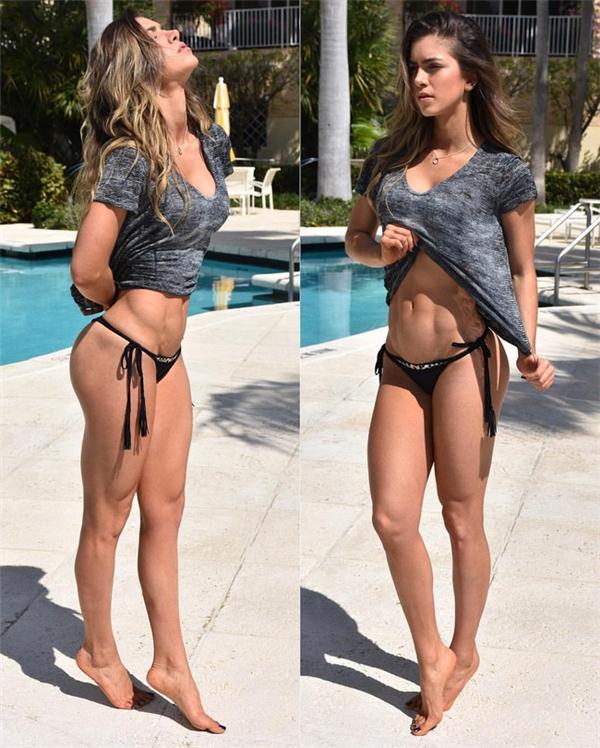 Mặt xinh, bụng 6 múi, dáng cực chuẩn - đây chắc chắn là hình mẫu khiến những cô nàng tập gym phải mê!