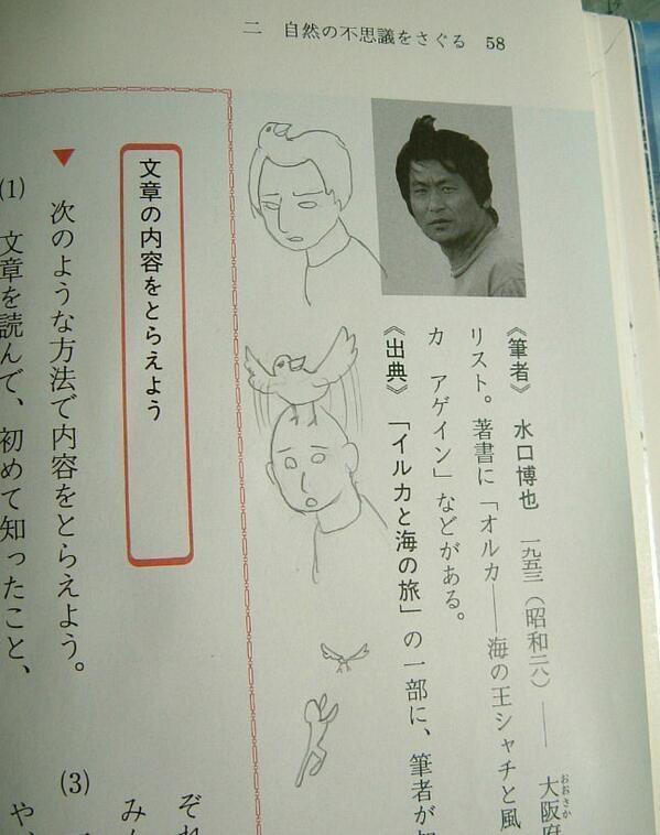 Mái tóc của nhân vật trong ảnh giống như một con chim lót ổ trên đầu, và nó cất cánh bay.