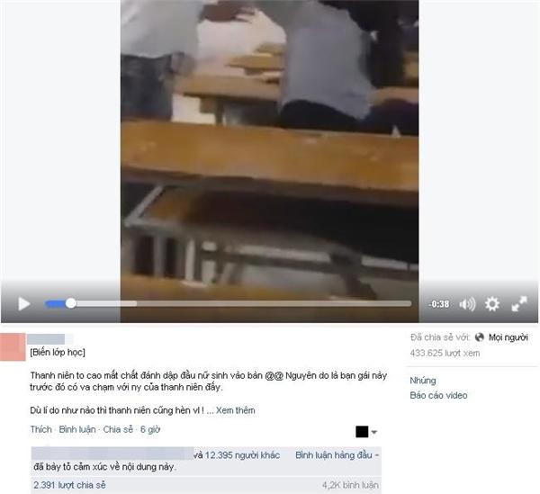 Chỉ sau vài tiếng đăng tải, đoạn clip thu hútđông đảo sự chú ý từ dân mạng. (Ảnh: Internet)