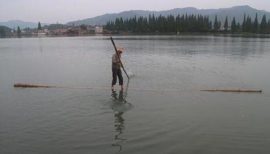 Theo ông Phương, chỉ cần tập luyện và có cơ thể khỏemạnhthì ai cũng có thể vượt sông trên thân tre.