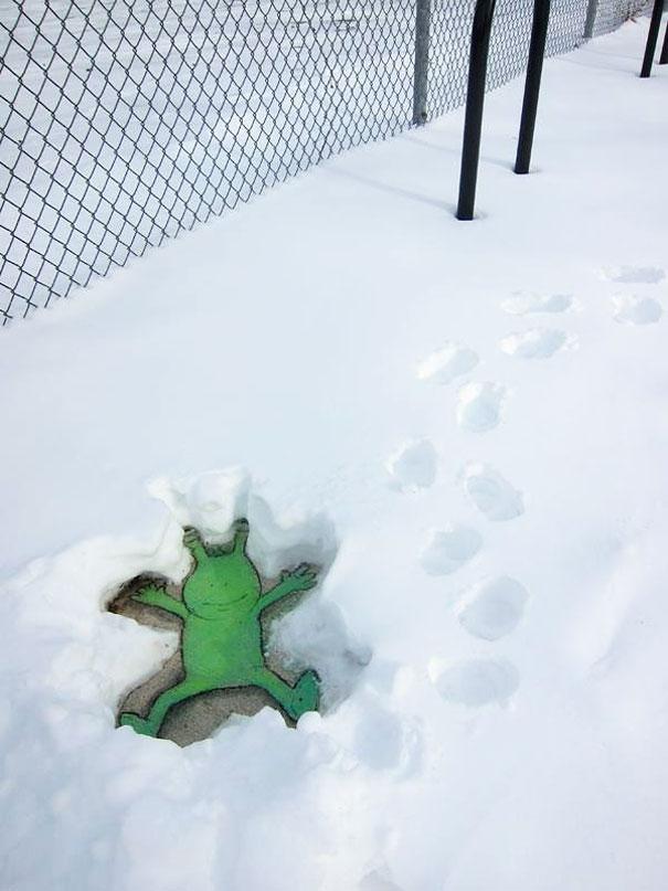 Hãy xem thiên thần tuyết Sluggo đây nè.