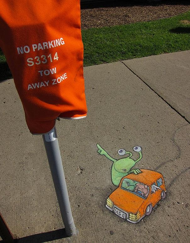 Ê ê, quẹo chỗ khác. Chỗ này cấm đậu xe.