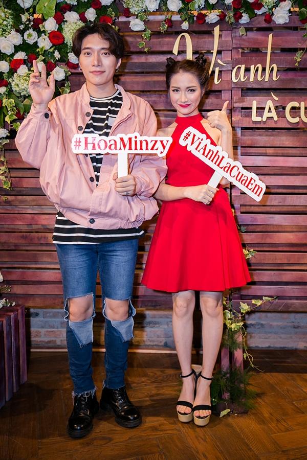 Hòa Minzy và nhạc sĩ Châu Đăng Khoa.