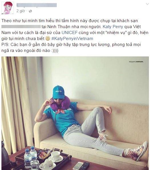 Fanpage này sau đó chia sẻ thêm rằng nữ ca sĩ chụp bức hình này tại Ninh Thuận
