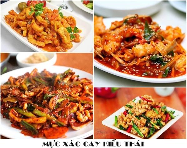 Món mực xào cay kiểu Thái sẽ cực phù hợp với những người thích đồ cay, nhâm nhi trong bàn tiệc.(Ảnh: Internet)
